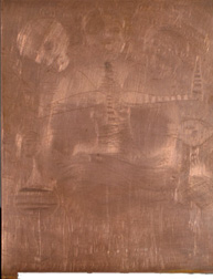 dry pointed copper plate